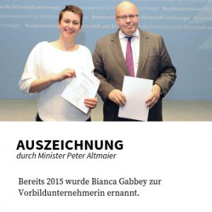 Auszeichnung durch Peter Altmaier