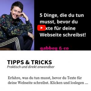Tipps für deine Webseite